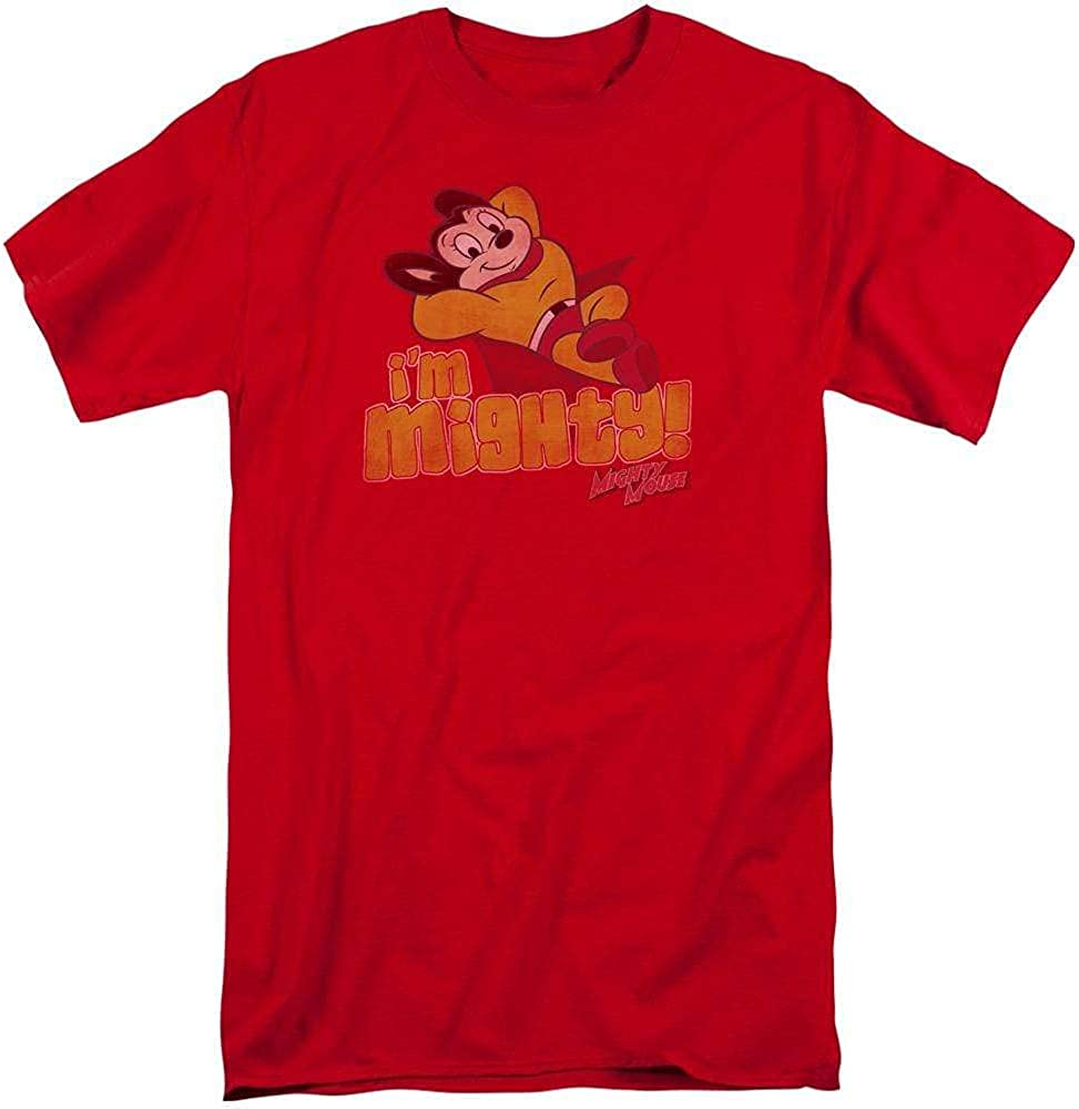 Mighty Mouse I'm Outlet ☆ Free Shipping Adult T-Shirt Tall Opening large release sale Fit