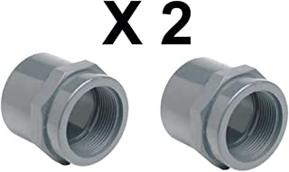 riduzione raccordo PVC incollaggio grigio diametro 20 mm x 25 mm corto bussola tubo connettore 5 pezzi