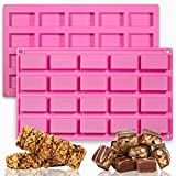 2 Pack Chocolate Bars Silicone Molds,...