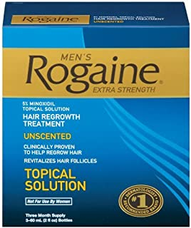 Rogaine for Men Hair Regrowth Treatment, Extra Strength-Super Pack-Unscented-(New Extra Strengh) 3 Month Supply