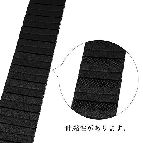 ジャスグッド JASGOOD 本革 ファション レディースベルト 太 シンプル 伸縮 デザイン 飾り ベルトJA027-A-Black-M