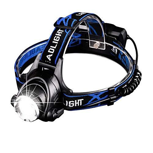 Seedary Linterna LED Frontal Recargable Lámpara Led de Cabeza, Super Bright, 3 Modos, Luz de Bicicleta IPX-6 Impermeable, Foco Luces Headlamp Faros LED, Lámpara de Cabeza para...