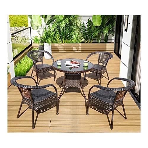DYYD Juegos de Muebles de jardín Muebles de Exterior Mesa y sillas Juego de Patio al Aire Libre de Interior del Invernadero de jardín al Aire Libre Junto a la Piscina del jardín