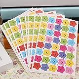 BLOUR 10pcs 400 Smile Stars Decal School Children Kids Teacher Label Reward Cute Sticker para DIY Scrapbook Decor School Stationery Set