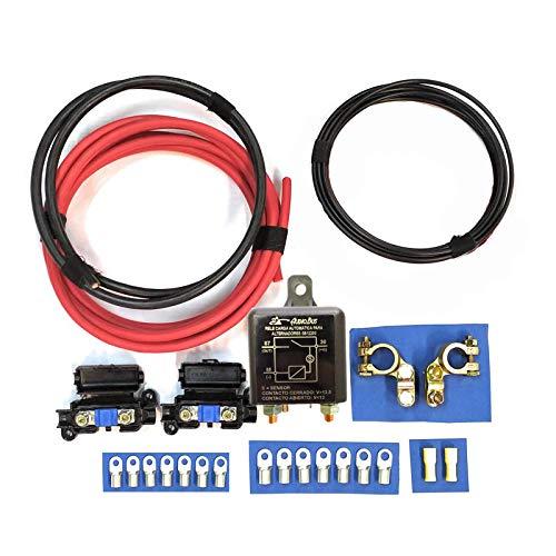 Kit Básico para Instalar Batería Auxiliar en Camper con Relé Automático Audiobus SB12200