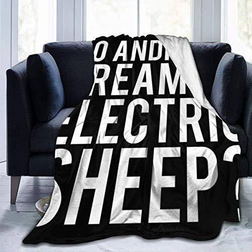 uxingdouriyongpin Les androïdes rêvent-Ils de la Lame de Mouton électrique Runner Fleece Flanel Throw Blanket Léger Ultra-Doux Couverture de lit Chaud Fit Sofa Convient