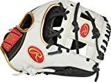 Rawlings Encore Youth Baseball Glove, Black, White, Gold, 11.5 inch...