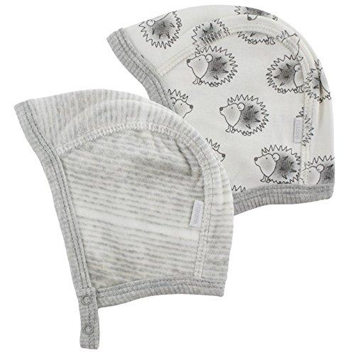 Fixoni 2'ER Pack Hauben Bonnet, Ecru (Off White), 12 Mois Mixte bébé