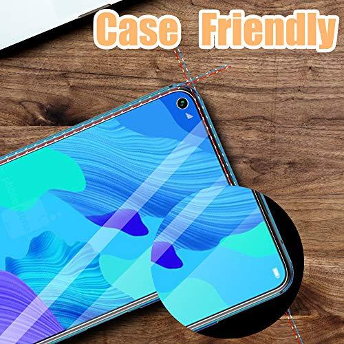 UniqueMe [3 Stück] Schutzfolie für Huawei Nova 5T Panzerglas, HD klar gehärtetes Glas Displayschutz [9H Härte Folie] [Anti-Fingerabdruck] Displayschutzfolie - 6