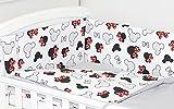 5 Piezas Juego de cama para bebé Protector, Edredón, Ropa de cama para cuna (140 x 70 cm, C4)