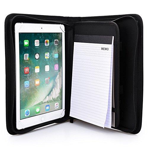"""Funda-Carpeta Tablet de 9-10.1"""", Cooper BIZMATE Portafolios Protector Cremallera Viaje, libreta y portalápices, 8,5 x 5,5 (Negro)"""