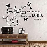 Usmnxo 98x57cm Vinilo Adhesivo versículos bíblicos decoración del hogar Arte