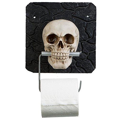 Toilettenpapierhalter Totenkopf Totenschädel Skull Halloween Bad Toilette WC