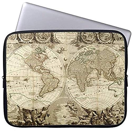 Funda para Portátil De Neopreno 1708 Mapa Mundial por Jean