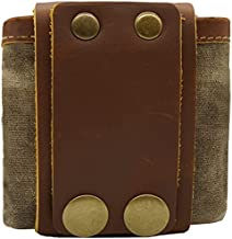 Bushcraft Bag Leather Belt Pouch Men Foraging Bag with Waxed Canvas for Travel, Camping, Hiking and Backpacking Gear -Brown