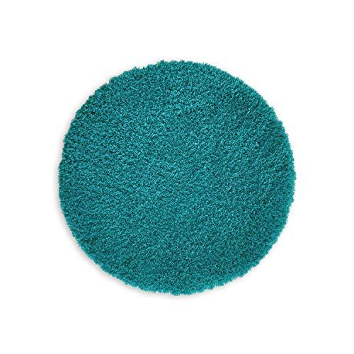 Badmat ROUND Individueel combineerbaar tot een set • Badmat Douchemat • Antislip & Wasbaar • Badmat, Badkamerkleed Petrol • ca 56 cm Rond