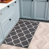 COSY HOMEER Kitchen Rug - Alfombrilla antideslizante para suelo de cocina (50 x 80 cm), color gris