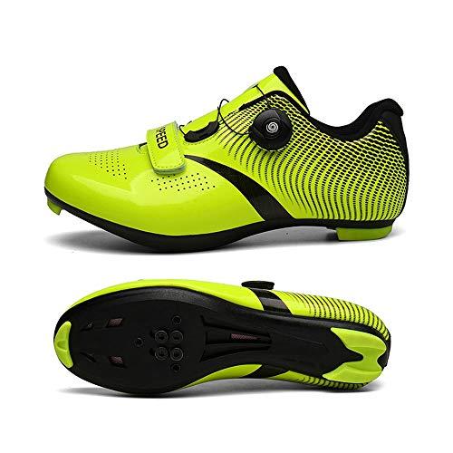 GET Zapatillas de Ciclismo de MTB para Hombres, Carreras Profesionales Impermeables Ventilar...