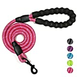 No fear of dog biting - Our dog leash is tightly knitted by rock climbing rope material. No matter how you drag or how hard the dog bites, the 1/2-inch diameter dog leash will be unscathed. No fear of dog running - The soft padded handles can protect...