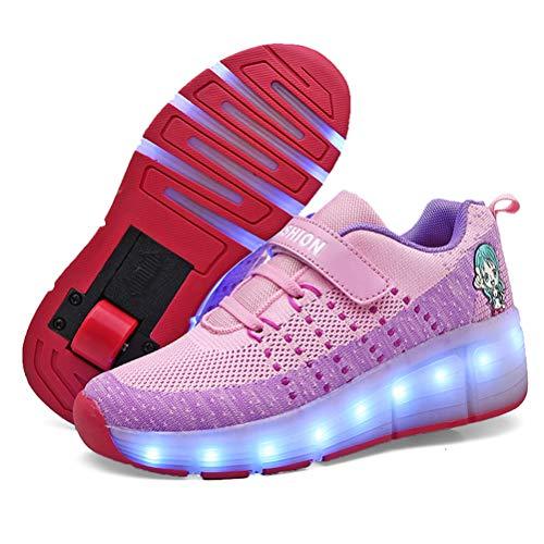 Unisex Recargable Led Luz Automática de Skate Zapatillas con Ruedas Zapatos Patines Deportes Zapatos para Niños Niñas Sneakers Runnig Shoes Outdoor