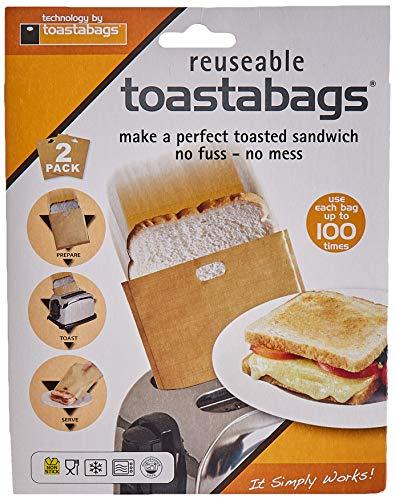 Toastabags Toasterbeutel, Doppelpack, 100-malverwendbar, Gold
