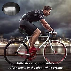 Achort Bolsa de Sillín de Bicicleta Alforjas Asiento Trasero Impermeable 1.5L para Bicicletas de montaña de Carrera teléfonos Negro