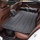 Colchón inflable del colchón de la cama de aire del colchón del viaje del coche de YRRC que acampa SUV extendido sofá del aire con dos almohadas de aire,Gray
