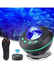 Aled Light Projectorlamp met sterrenhemel, led-nachtlampje, sterrenhemel, met afstandsbediening, bluetooth, muziekster, led-projector, maanlicht, cadeau