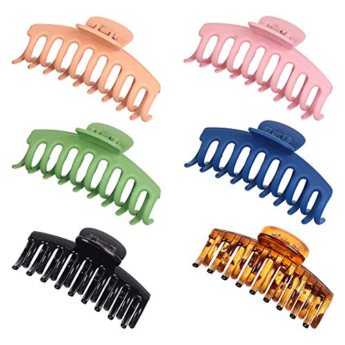 Clips de garra grandes de 6 piezas de pinzas para el pelo de 4.3 pulgadas antideslizantes para el pelo, clips de plátano, clips de mandíbula, importan diseño francés, accesorios para el cabello