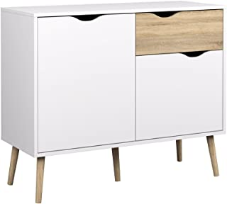 Tvilum Diana Sideboard with 2 Doors and 1 Drawer, White Oak