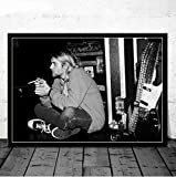 QINGRENJIE Retro Kurt Cobain Rockmusik Band Musik Sänger