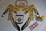 Hmparts Pit Bike / Dirt Bike Top Set de Pegatinas X - Amarillo Nuevo