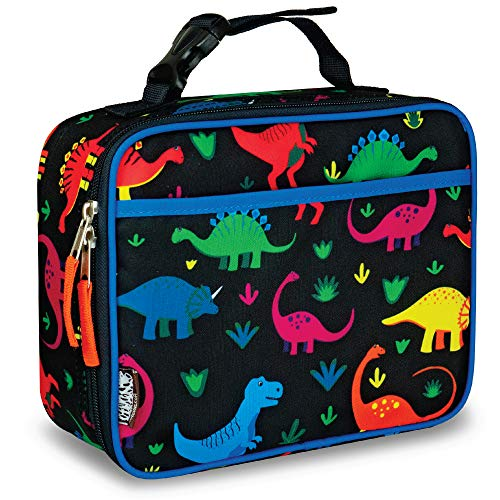 LONECONE Kids' Insulated Lunch Box - Cute Patterns for Boys and Girls, Shark Bite, Standard with Buckle