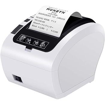 サーマルプリンター MUNBYN 80mm レシート チケット プリンター 230mm/s自動カッター USB Ethernet対応 ESC POS ラベル 特大容量タンク搭載 エアペイ対応プリンター 省スペース壁掛け 領収書 請求書印刷用 日本語取扱説明書