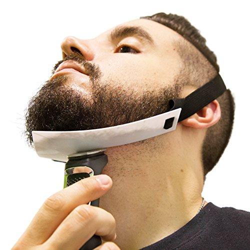Aberlite FlexShaper – Beard Shaper Neckline Guide – Hands-Free & Flexible – The Ultimate Neckline Beard Shaping Template – Beard Trimmer Tool – Lineup Stencil Kit (White)