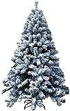 FSADGNO Árbol de Navidad Artificial 4 pies (120 cm) Decoraciones para árboles de Navidad, bisagras flocadas, Soporte de Pino desplegable automático Decoraciones navideñas