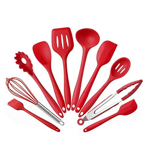 Home Küche Silikon Kochgeschirr Set 4 Farben/10 Stück Set/Hohe Temperatur Beständig Nicht-stick-die Beste Küche Werkzeug Zubehör/Spülmaschine Sicherheit