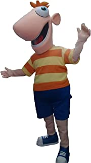 Phineas of Phinias and Ferb Mascot Character Costume Cosplay Party Birthday Halloween Nude
