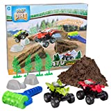 Play Visions Indoor Play Dirt ATV Adventure Create Obstacles, Build Jumps - Includes 2 lbs Dirt, ATVs, Rocks, Trees, and Pebble Roller