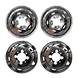 Ram 3500 Wheel Skins - VioGi Fit 4pcs Front+Rear Polished Stainless Steel 17