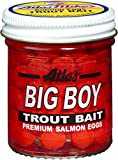Atlas Mike's Big Boy Salmon Fishing Bait Eggs, 1.6-Ounce, Red