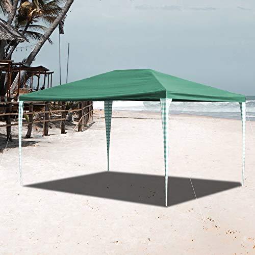 VINGO Pavillon 3x4m Wasserdicht Ohne Seitenteile Grün Stabiles Partyzelt Gartenzelt UV-Schutz für Garten Markt Camping Hochzeiten Festival