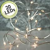 arts LED Micro Ketten Lichterkette LED mit silbernen Draht - batteriebetrieben (AA) mit 6 Stunden...