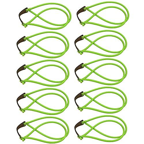 10 Pezzi Elastico Fionde, Elastici da Caccia, Elastico per Fionda, Elastici per Catapulta, Elastico Resistente e Riutilizzabile Antiscivolo, per Allenamento All Aperto, Tiro a Segno (Verde)