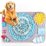 Nabance Snuffle Mat para Perros, Alfombra Olfativa Perros Snuffle Mat, Alfombra Interactiva Perros, Juguetes para Perros Muy Activos o con Ansiedad - con Agujeros para Colgar (Anillo Azul)