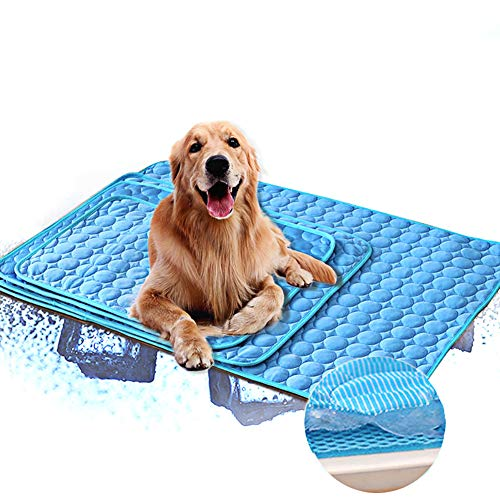 Pet Cooling Mat for Dogs, Pet Self Cooling Ice Gel Pad Ice Chill Out Scarf in Summer for Medium and Large Pet Outdoor Or Home Use,XXL