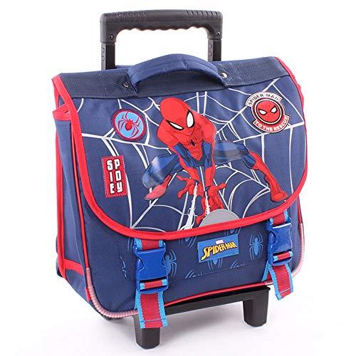 Spiderman - Cartable Trolley - marine - 38 cm