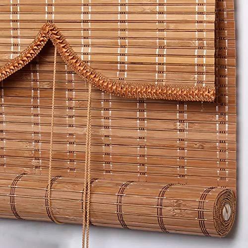 Estor de bambú CCFCF, persianas prémium para interiores y exteriores, persianas para patio/pabellón/pérgola/Carport, 90 x 160 cm/35 x 63 pulgadas