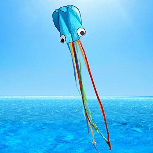GGG 4M Ligne simple Stunt multi-couleurs Jeu de Plein Air cerf-volants Prêt à voler Outdoor Sport Jouets Nouveau - Bleu couleur