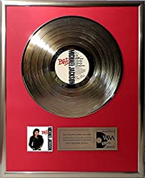 Michael Jackson - Bad goldene Schallplatte gold record
